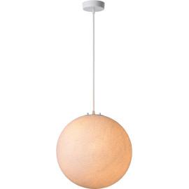 Suspension ronde classique en plastique blanc Benam