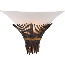 Applique classique en métal bronzé et verre Cara