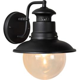 Applique lanterne vintage en métal noir Barry