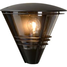 Applique moderne pour extérieur en aluminium noir Caprais