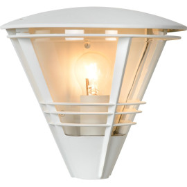 Applique moderne pour extérieur en aluminium gris Caprais