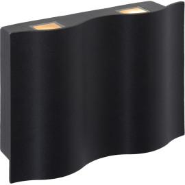 Applique moderne en aluminium noir 2 ampoules LED Carla