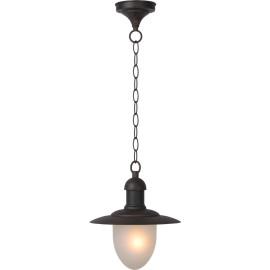 Suspension vintage lanterne en métal rouille Faen