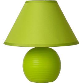 Lampe à poser classique en céramique et tissu vert Penny