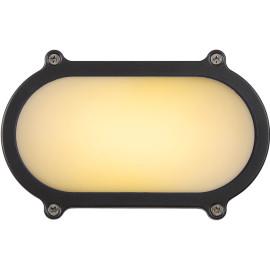 Applique classique ovale en aluminium noir 15,5 cm Daria