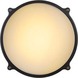 Applique classique ronde en aluminium noir Ø 24,5 Daria