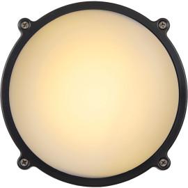 Applique classique ronde en aluminium noir Ø 19 Daria