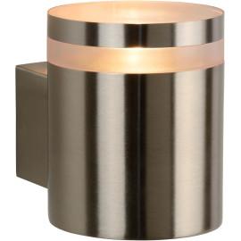 Applique design d'extérieur en acier chromé Ø9 cm Electa