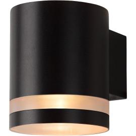 Applique design d'extérieur en acier noir Ø9 cm Electa