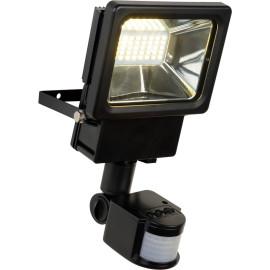Projecteur noir avec capteur de présence LED 10W Auron