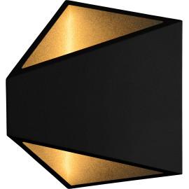 Applique moderne extérieure en aluminium noir Gaby