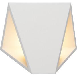 Applique moderne extérieure en aluminium blanc Gaby