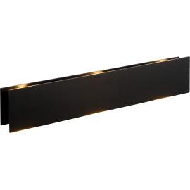 Applique extérieure moderne en aluminium noir 3 LED Gary