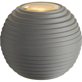 Applique moderne d'extérieur ronde en aluminium gris Ø10 cm Gaïa