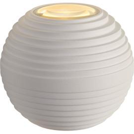 Applique moderne d'extérieur ronde en aluminium blanc Ø10 cm Gaïa