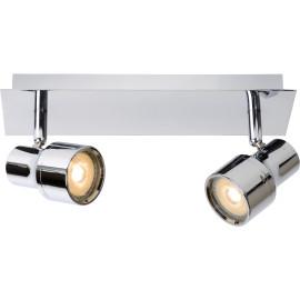 Spot moderne en métal chromé 2 LED Ø10 cm Steel