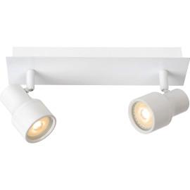 Spot moderne en métal blanc 2 LED Ø10 cm Steel