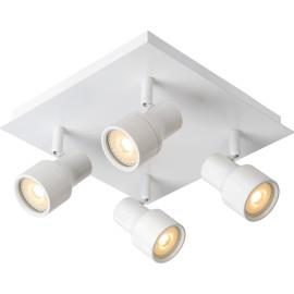 Spot moderne en métal blanc 4 LED Ø10 cm Steel