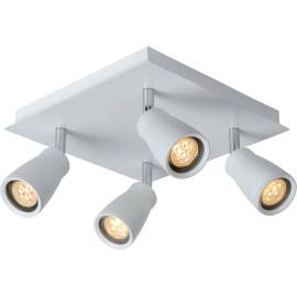 Spot moderne 4 LED en métal blanc Gall