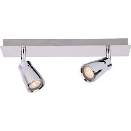 Spot moderne 2 LED en métal chromé Gall