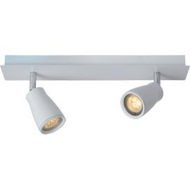Spot moderne 2 LED en métal blanc Gall