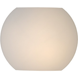 Applique moderne en verre opaque blanc Ø20 cm Helga