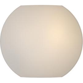 Applique moderne en verre opaque blanc Ø25 cm Helga