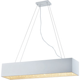 Suspension modernne en métal blanc 10 LED Helois