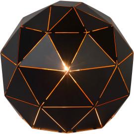 Lampe à poser moderne en métal noir Ø25 cm Haude