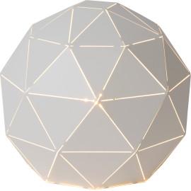 Lampe à poser moderne en métal blanc Ø25 cm Haude
