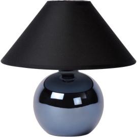 Lampe de table classique boule en céramique et tissu noir Lara