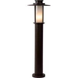 Borne classique d'extérieur en aluminium brun Ø24 cm Ido