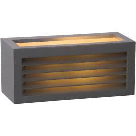 Applique moderne d'extérieur en aluminium noir Idalie