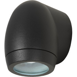 Applique moderne extérieure en aluminium noir Ø8 cm Ilana