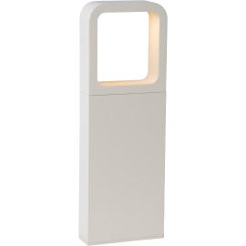 Borne moderne extérieure LED en aluminium blanc H35 cm Ilda