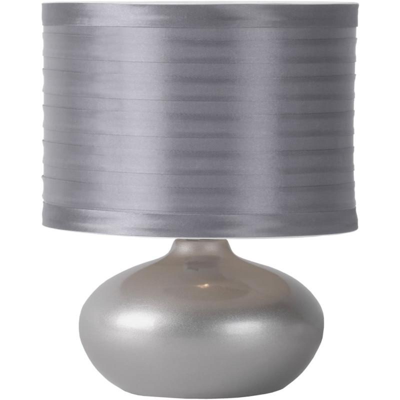 Lampe de chevet classique en c ramique argent comix - Lampe de chevet argent ...