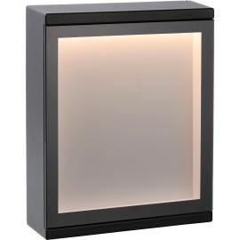 Applique moderne d'extérieur aluminium noir LED Ilya