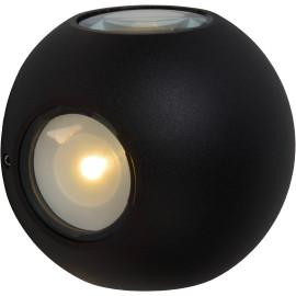 Applique moderne d'extérieur en aluminium noir Imélie