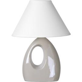 Lampe de table moderne en céramique nacrée blanche Mika