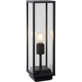 Borne vintage extérieure en aluminium noir et verre H50cm Jan