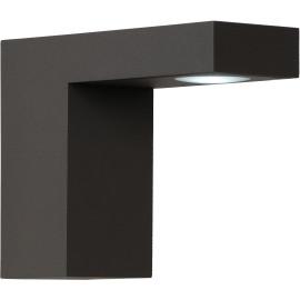 Applique extérieure moderne aluminium noir LED Kalie
