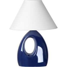 Lampe de table moderne en céramique nacrée bleue Mika