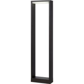 Borne moderne d'extérieur aluminium noir LED Kamil