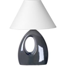 Lampe de table moderne en céramique nacrée grise Mika