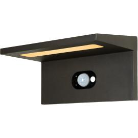 Applique solaire moderne d'extérieur aluminium noir LED Kassy