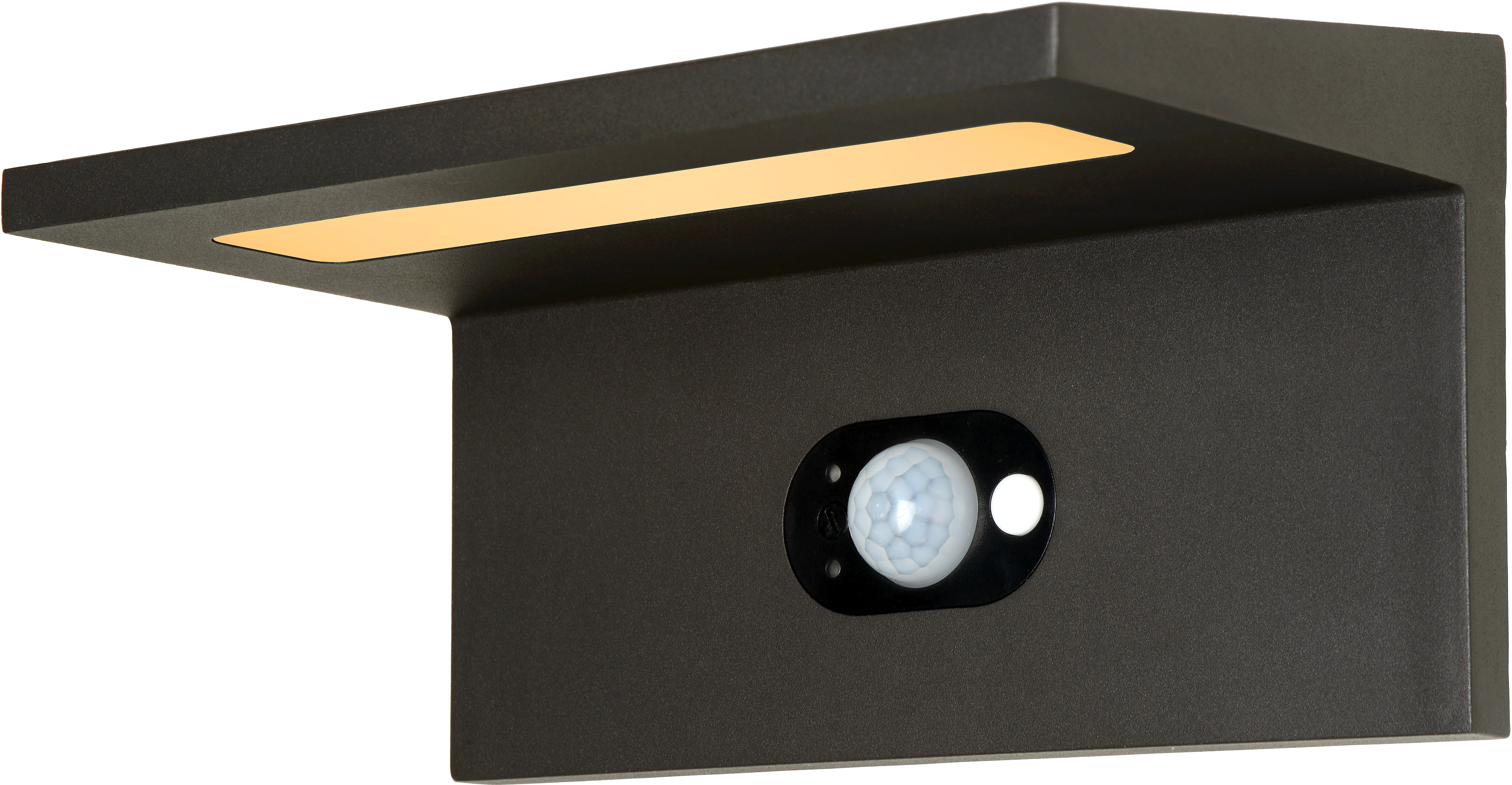 Applique solaire moderne d extérieur aluminium noir led kassy