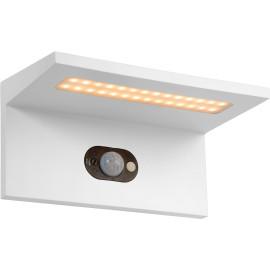 Applique solaire moderne d'extérieur aluminium blanc LED Kassy