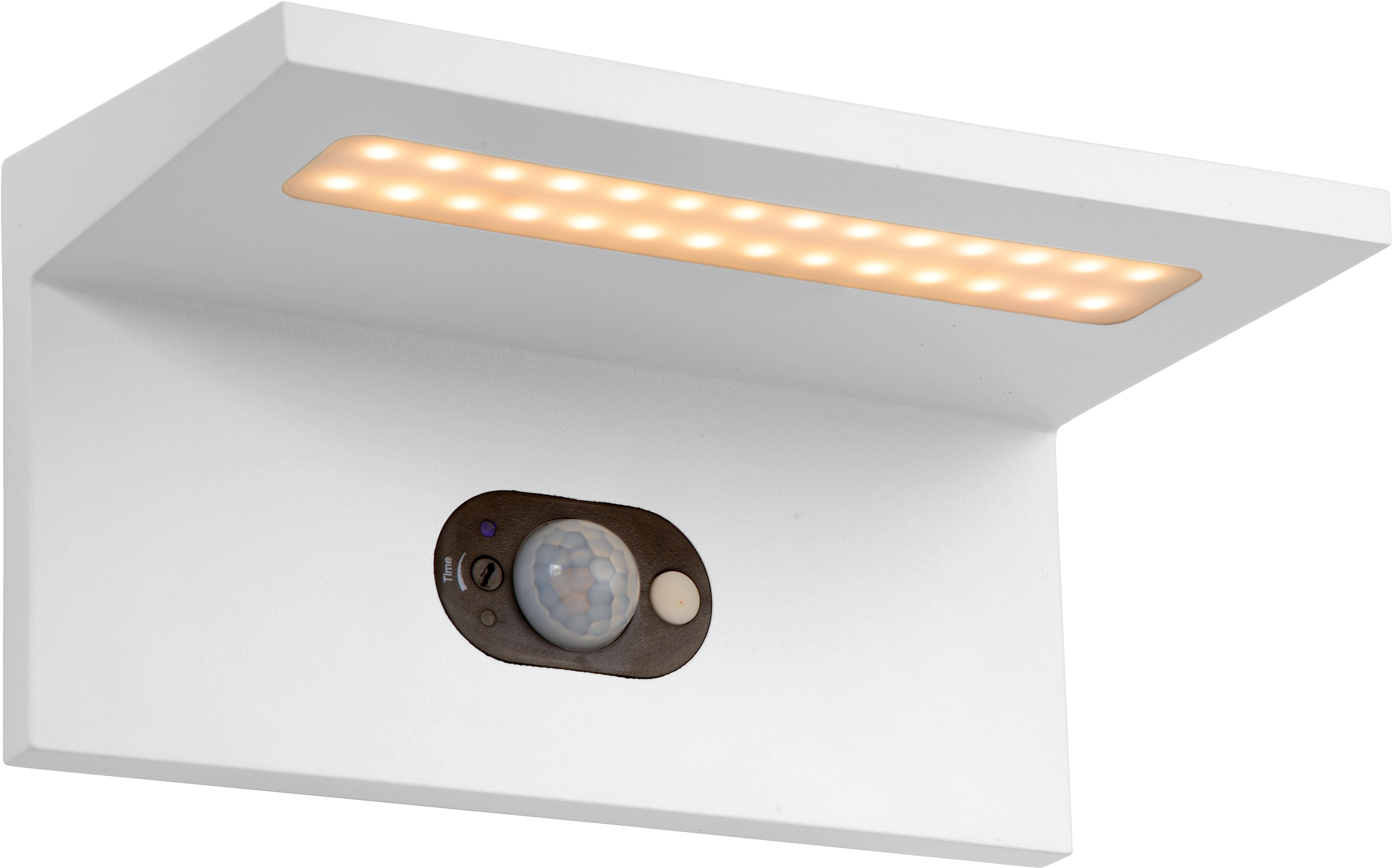Applique solaire moderne d extérieur aluminium blanc led kassy