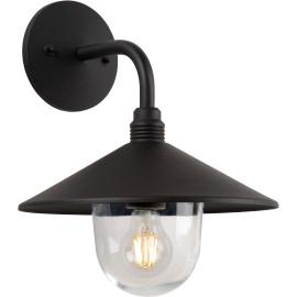 Applique vintage d'extérieur aluminium noir LED Kelya