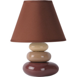 Lampe de table contemporaine céramique brune Galet